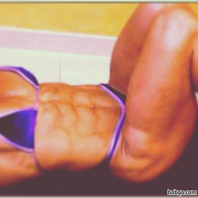 hot woman with muscular body and toned arms picture from facebook