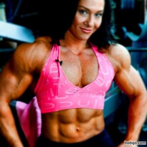 awesome woman with muscle body and toned biceps photo from linkedin