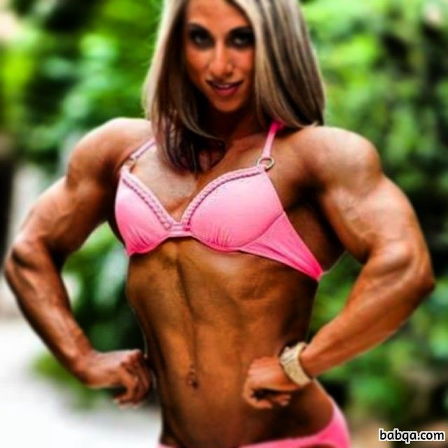hot lady with strong body and muscle arms photo from g+