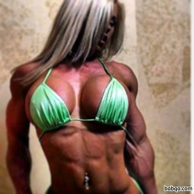hottest female bodybuilder with muscular body and toned legs pic from tumblr