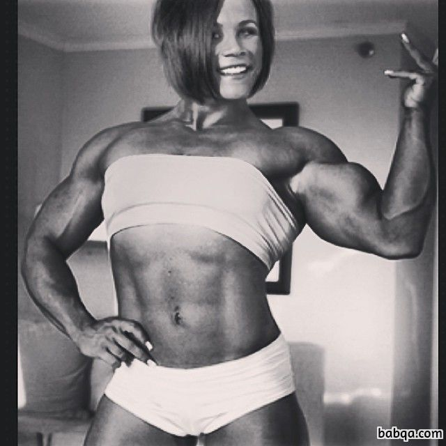 sexy girl with fitness body and toned biceps pic from reddit
