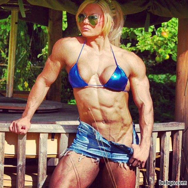 sexy female with strong body and toned arms post from linkedin