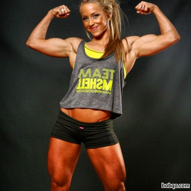 hot female bodybuilder with muscle body and toned bottom post from insta