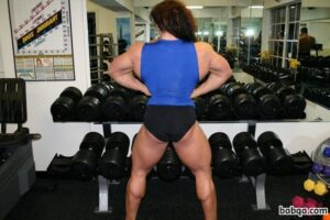 hottest chick with muscular body and muscle arms photo from g+