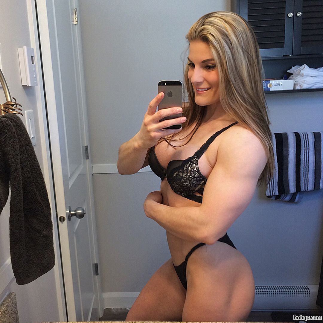 spicy woman with muscle body and muscle booty post from instagram
