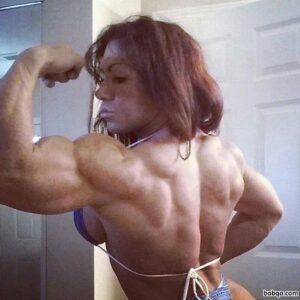 awesome woman with muscular body and toned arms repost from flickr