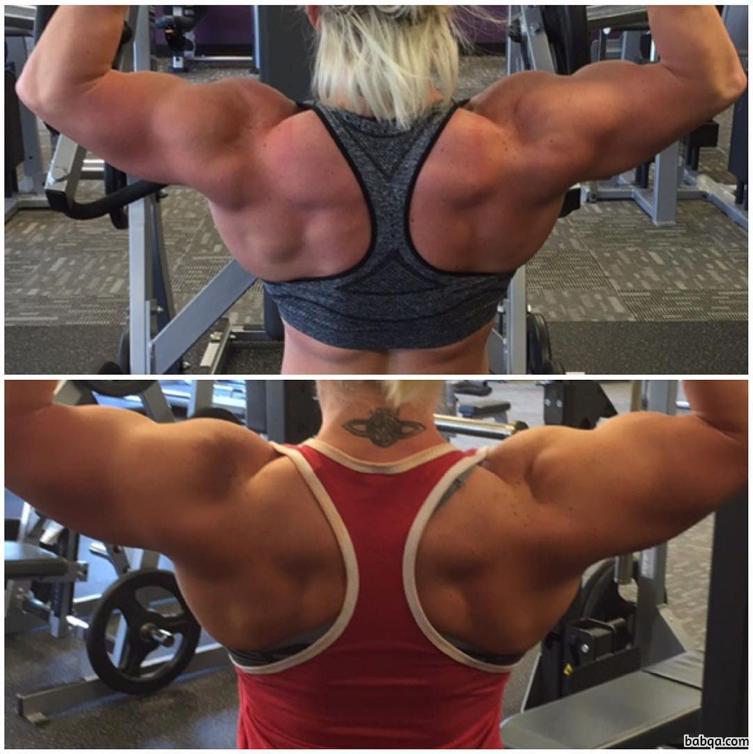 beautiful female with muscle body and toned biceps image from reddit