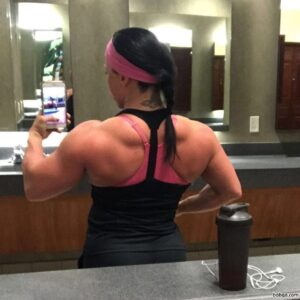 awesome female bodybuilder with strong body and muscle arms picture from linkedin