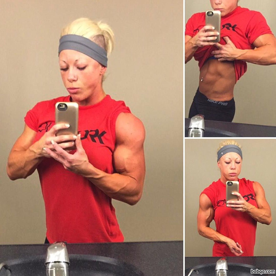 spicy female bodybuilder with fitness body and toned bottom image from insta