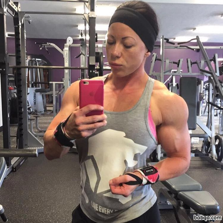 spicy female with muscle body and muscle bottom image from g+