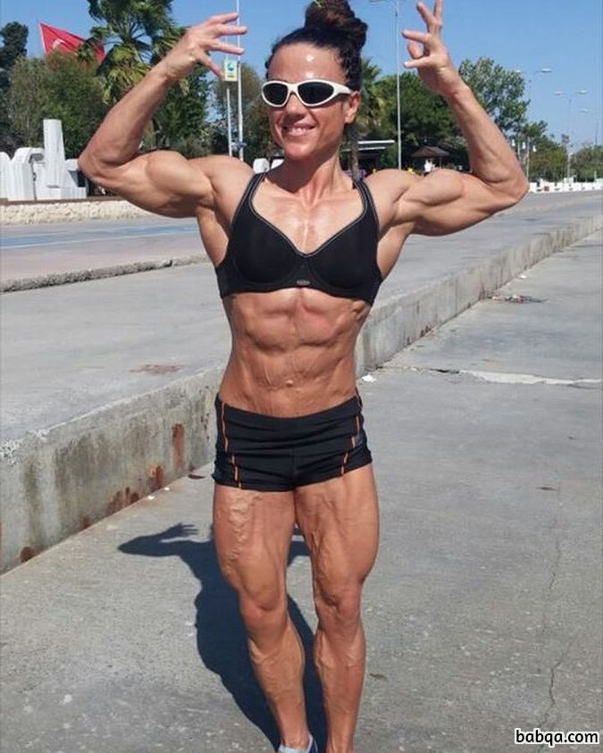 sexy female with muscular body and muscle ass picture from tumblr