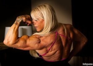 awesome girl with muscle body and muscle biceps repost from linkedin