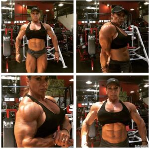 perfect lady with strong body and toned arms pic from g+