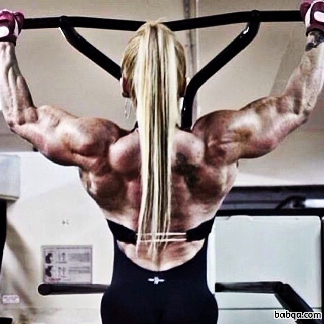hot girl with strong body and muscle booty repost from insta