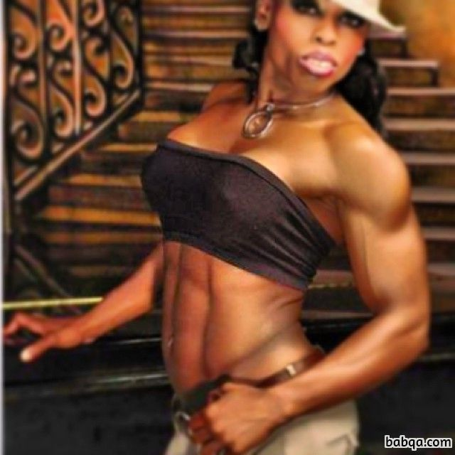 awesome female bodybuilder with muscular body and toned biceps photo from instagram