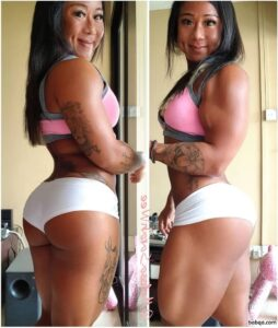 hottest chick with fitness body and toned legs picture from g+
