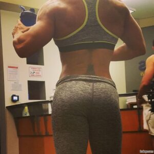 hot lady with fitness body and toned arms photo from instagram