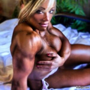 perfect chick with strong body and muscle biceps pic from facebook