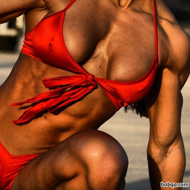 cute chick with muscle body and muscle legs picture from tumblr