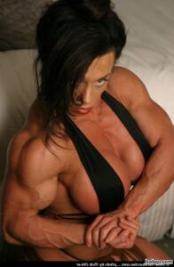 perfect female bodybuilder with muscle body and toned bottom post from reddit