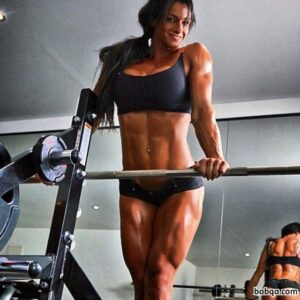 beautiful female bodybuilder with strong body and muscle legs photo from reddit
