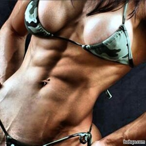 hottest chick with fitness body and toned biceps pic from tumblr