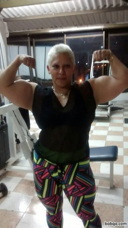 hottest female with muscle body and muscle biceps post from flickr
