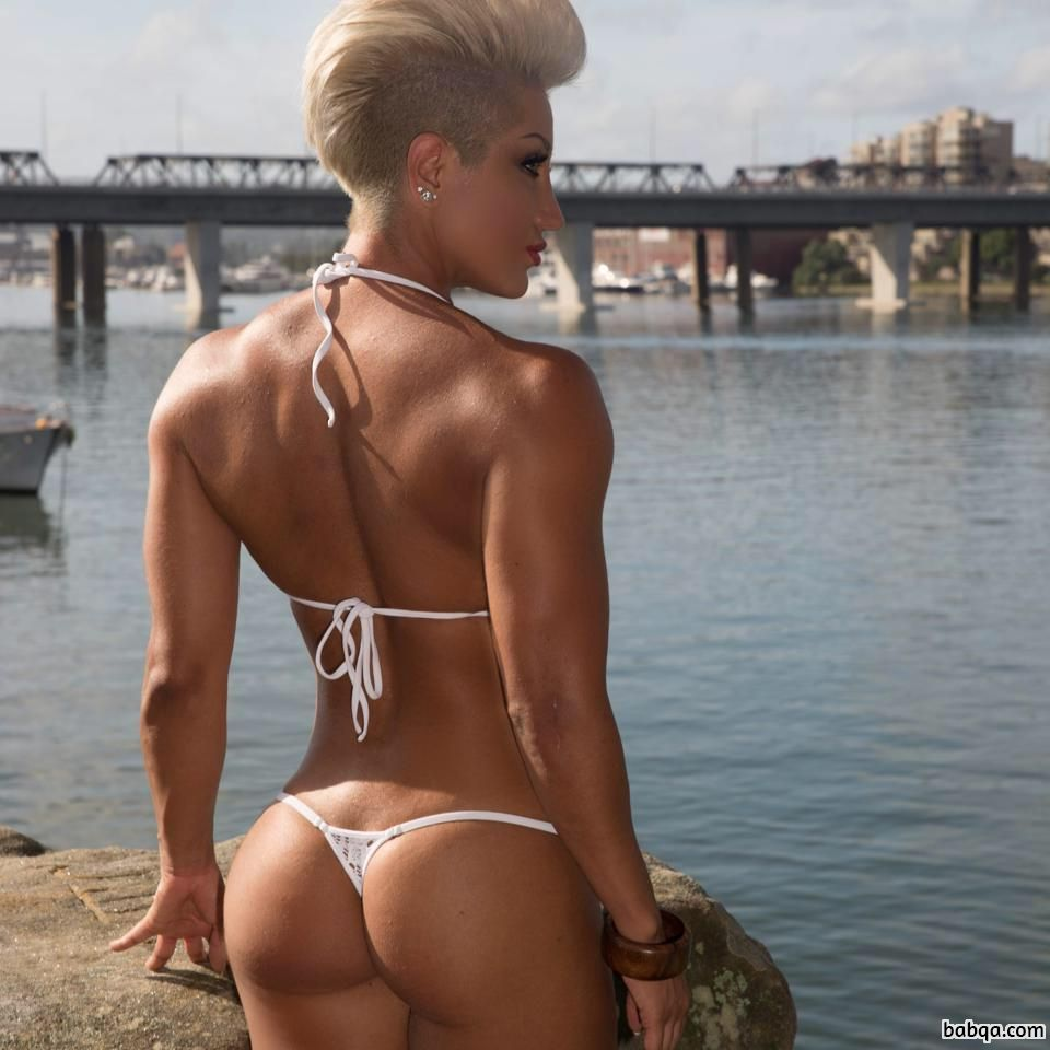 hottest female with muscle body and muscle biceps post from facebook