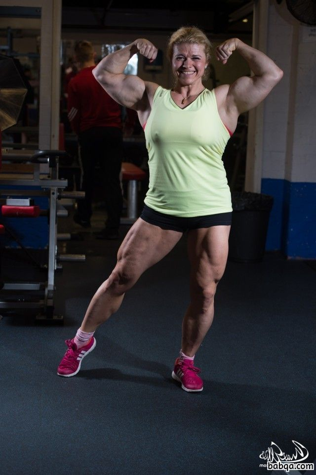 hottest girl with strong body and muscle biceps photo from linkedin