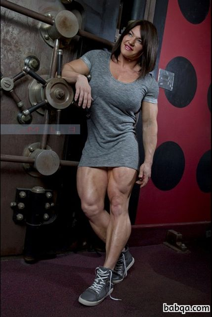 beautiful woman with muscle body and muscle arms picture from facebook