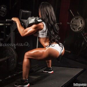 sexy chick with fitness body and muscle biceps photo from reddit