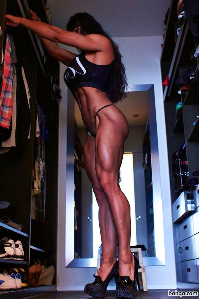 beautiful girl with muscle body and toned legs post from flickr