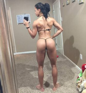 perfect babe with muscular body and muscle booty photo from facebook