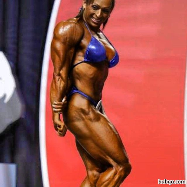 cute female bodybuilder with fitness body and muscle legs image from reddit