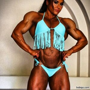 perfect female bodybuilder with strong body and muscle arms post from flickr