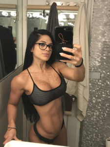 hottest female bodybuilder with strong body and muscle booty post from facebook