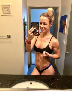 cute chick with muscle body and toned biceps pic from instagram