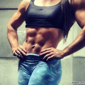cute female bodybuilder with muscle body and toned biceps picture from tumblr