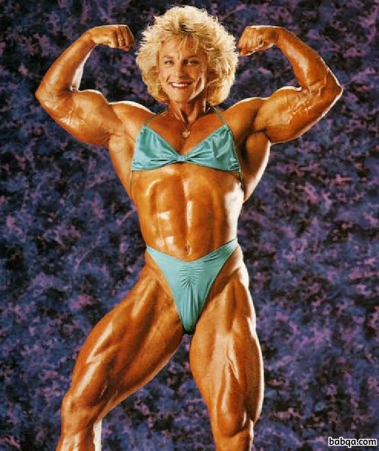 hottest lady with fitness body and muscle biceps post from reddit