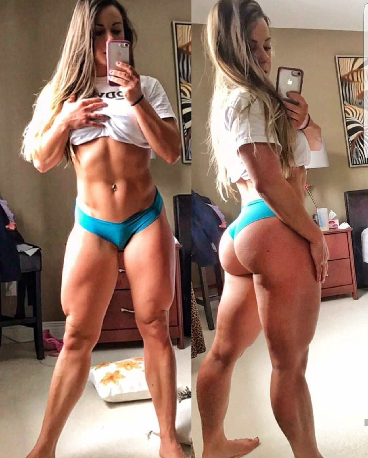 hot woman with strong body and toned biceps picture from g+