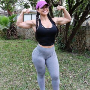 hot woman with strong body and muscle biceps image from linkedin