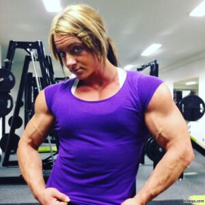 sexy lady with muscle body and muscle biceps photo from reddit