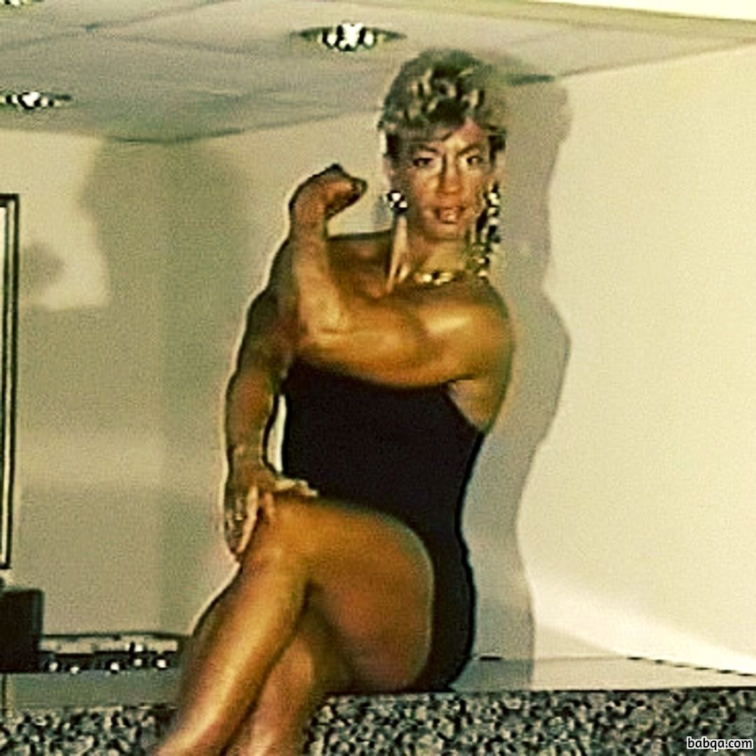 beautiful woman with muscular body and muscle ass image from facebook