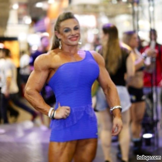 awesome lady with fitness body and toned biceps image from tumblr
