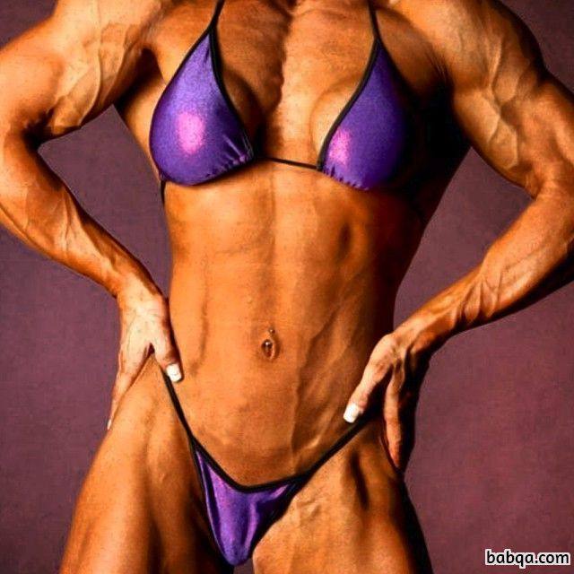 sexy babe with muscular body and toned biceps image from linkedin
