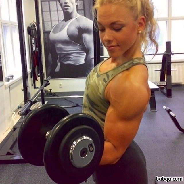 beautiful babe with muscular body and muscle biceps photo from g+
