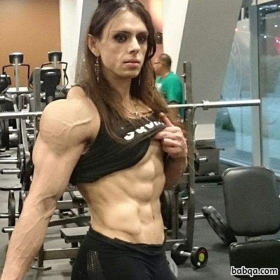 beautiful lady with muscular body and toned ass image from reddit