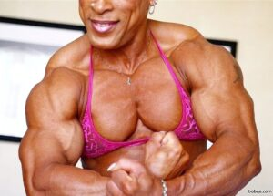spicy female bodybuilder with strong body and toned biceps picture from facebook