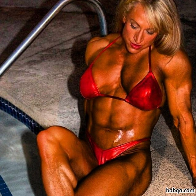 spicy girl with strong body and muscle biceps picture from g+