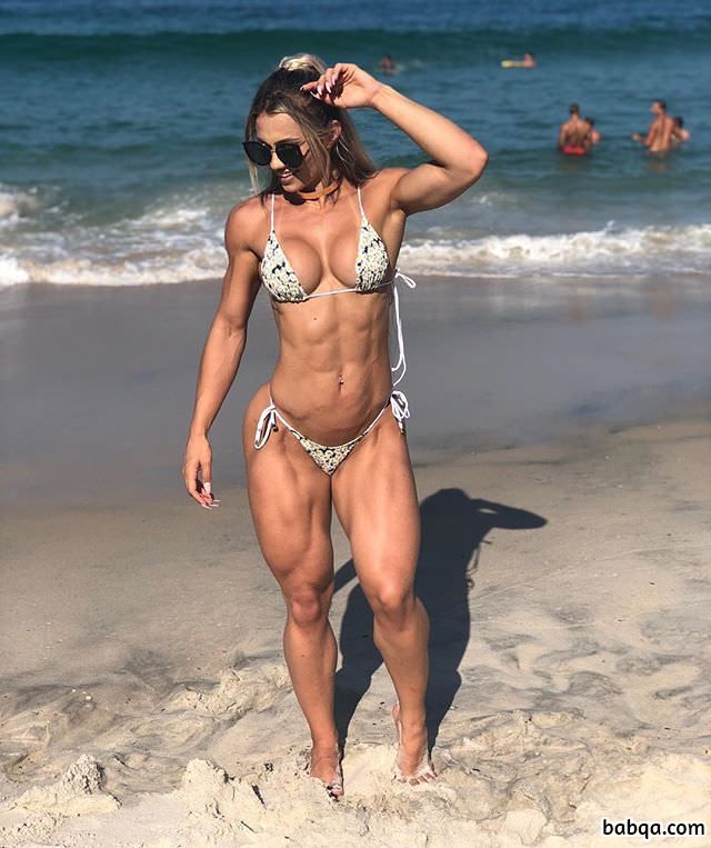 hot woman with strong body and muscle legs picture from g+